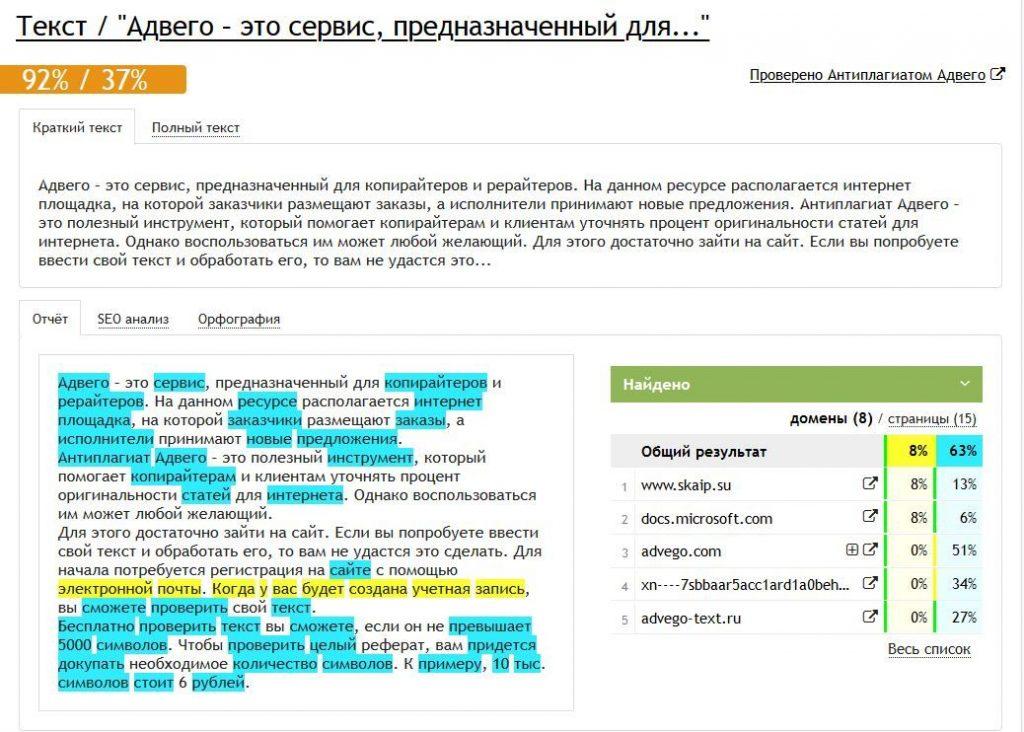 проверить текст на антиплагиат онлайн
